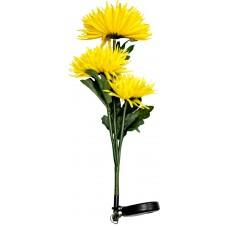 """Светильник садово-парковый на солнечной батарее """"Астра 3шт."""" желтый, 3 LED белый, 80см , PL304"""