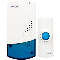 Звонок дверной беспроводной Feron H-138B-E Электрический 32 мелодии белый с питанием от батареек
