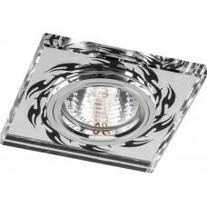 Светильник встраиваемый Feron 8115-2 потолочный MR16 G5.3 серебристо-черный