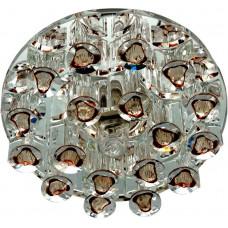 Светильник встраиваемый Feron 1550 потолочный JCD9 G9 коричневый-прозрачный