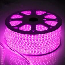 Светодиодная лента 220V GY-SMD3014-120L-P (12W/M) розовый