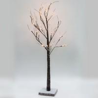 Светодиодное дерево Feron LT043 с тёплой белой LED подсветкой от сети, высота 120 см