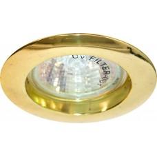 Светильник встраиваемый Feron DL307 потолочный MR16 G5.3 золотистый