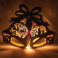 Деревянная световая фигура, 1 лампа накаливания, цвет свечения: теплый белый, 29*5*24cm, шнур 1,4 м, IP20, LT067