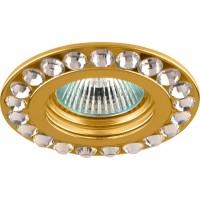 Светильник встраиваемый Feron DL112-C потолочный MR16 G5.3 золотистый