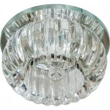 Светильник встраиваемый с белой LED подсветкой Feron C1010 потолочный JCD9 G9 прозрачный