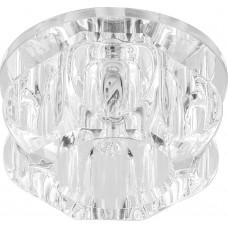 Светильник встраиваемый с белой LED подсветкой Feron JD159 потолочный JCD9 G9 прозрачный