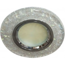 Светильник встраиваемый с белой LED подсветкой Feron 8585-2 потолочный MR16 G5.3 белый