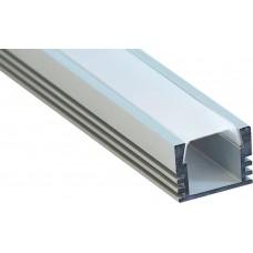 Профиль алюминиевый накладной , серебро, CAB261
