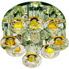 Светильник встраиваемый Feron 1527 потолочный JCD9 G9 желтый-прозрачный