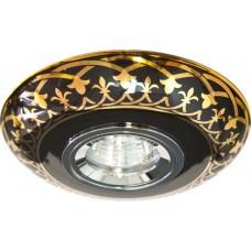 Светильник встраиваемый Feron C2626 потолочный MR16 G5.3 черно-золотистый