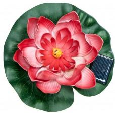 """Светильник садово-парковый на воду на солнечной батарее """"Кувшинка"""" красный, 1 RGB LED, 170*170*60мм, PL263"""