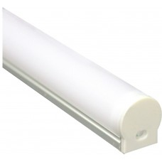 Профиль алюминиевый круглый узкий, серебро, CAB282
