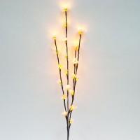 Ветка декоративная светодиодная Feron LD207B c белой подсветкой от сети, высота 80 см