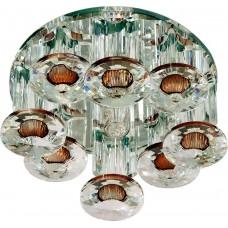 Светильник встраиваемый Feron 1527 потолочный JCD9 G9 коричневый-прозрачный
