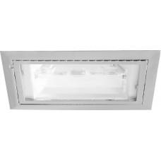 Светильник потолочный с алюминиевым отражателем, MHB R7S белый, без пускателя, SP025