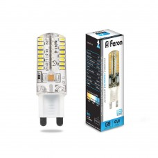 Лампа светодиодная Feron LB-421 G9 4W 6400K