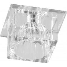 Светильник встраиваемый с белой LED подсветкой Feron JD55 потолочный JCD9 G9 прозрачный
