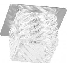 Светильник встраиваемый Feron BS 125-FA потолочный JCD G9 прозрачный, титан