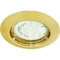 Светильник встраиваемый Feron DL110A потолочный MR11 G4.0 золотистый