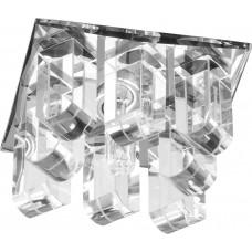Светильник встраиваемый Feron 1570 потолочный JС G5.3 прозрачный