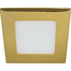 Светодиодный светильник Feron AL502 встраиваемый 6W 4000K золотистый