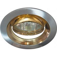 Светильник встраиваемый Feron 2009DL потолочный MR16 G5.3 серебро-золото