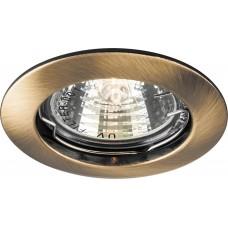 Светильник встраиваемый Feron DL307 потолочный MR16 G5.3 античное золото
