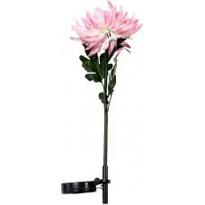 """Светильник садово-парковый на солнечной батарее """"Хризантема"""" розовый, 1 LED белый, PL305"""