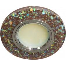 Светильник встраиваемый с белой LED подсветкой Feron 8585-2 потолочный MR16 G5.3 коричневый