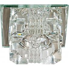 Светильник встраиваемый с белой LED подсветкой Feron JD61 потолочный JCD9 G9 прозрачный