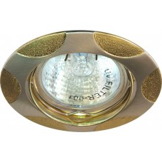 Светильник встраиваемый Feron 156T-MR16 потолочный MR16 G5.3 матовое серебро-хром