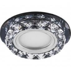 Светильник встраиваемый с белой LED подсветкой Feron CD878 потолочный MR16 G5.3 черный