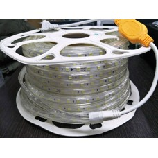Светодиодная лента 220V GY-SMD5054-60L-W   (22W/M) холодный белый