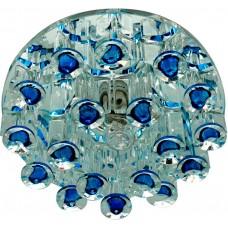 Светильник встраиваемый Feron 1550 потолочный JCD9 G9 голубой-прозрачный