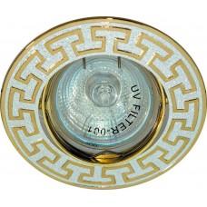Светильник встраиваемый Feron 2008DL потолочный MR16 G5.3 серебро-золото