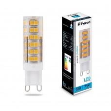 Лампа светодиодная Feron LB-433 G9 7W 6400K