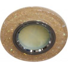 Светильник встраиваемый с белой LED подсветкой Feron 8585-2 потолочный MR16 G5.3 желтый