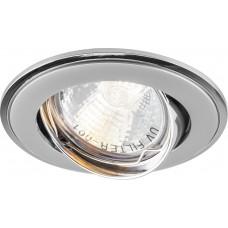 Светильник встраиваемый Feron 301T-MR16 потолочный MR16 G5.3 серый-хром