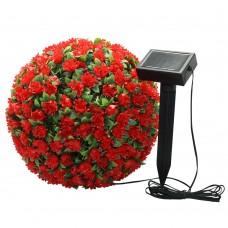 """Светильник садово-парковый на солнечной батарее """"Цветочный шар"""", красный, 20 LED (белый ), D 28 см , E5209, арт.06264"""