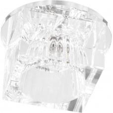 Светильник встраиваемый с белой LED подсветкой Feron JD37 потолочный JCD9 G9 прозрачный