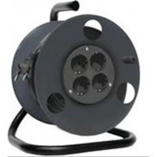 Катушка для длинномеров с металлической ручной 4 гнезда 250 мм