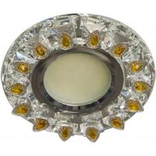 Светильник встраиваемый с белой LED подсветкой Feron CD55A потолочный MR16 G5.3 прозрачно-желтый