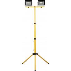 Светодиодный прожектор Feron LL-503 квадрат 2*50W 6400К 220V черный IP65  (на штативе)