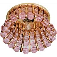 Светильник встраиваемый Feron CD2120 потолочный JCD9 G9 розовый, золотистый
