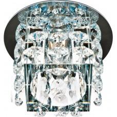Светильник встраиваемый с белой LED подсветкой Feron JD58 потолочный JCD9 G9 прозрачный