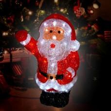 Акриловый светодиодный  Дед Мороз разноцветный маленький