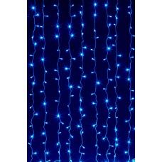 Гирлянда Занавес синяя LED 160, контроллер