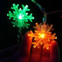 """Гирлянда """"Снежинки"""" RGB LED 4,5 м"""